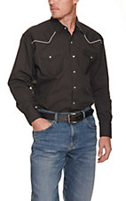 Ely Cattleman Black Western Shirt