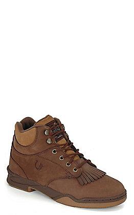 Roper Men's Horseshoe Dark Brown Lace Up Classic Original Hiker Boots