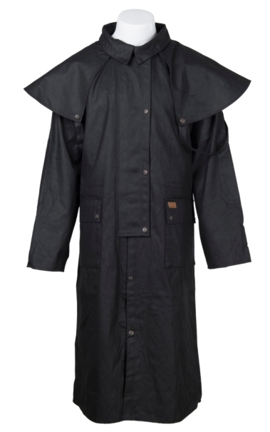 Cheap Outback Trading Co. Black Low Rider Oilskin Duster supplier