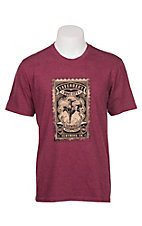 Cavender's Men's Maroon Bronco Stamp Logo Short Sleeve Tee