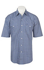 Stetson Men's Purple Geo Print S/S Western Snap Shirt
