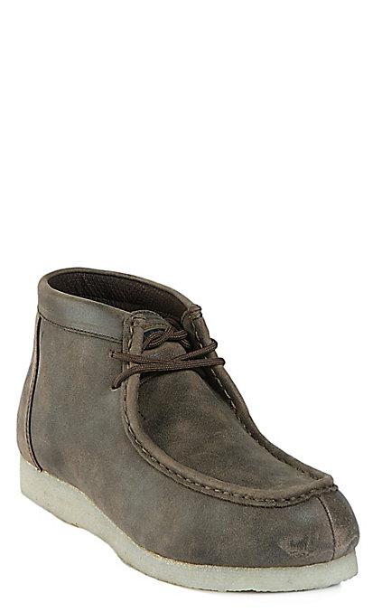 7a8e25c177a Roper Men's Vintage Brown Desert Sticker Lace Up Casual Shoes