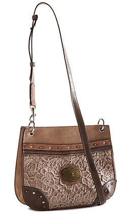 Justin Women's Light with Tan Lace Crossbody Purse