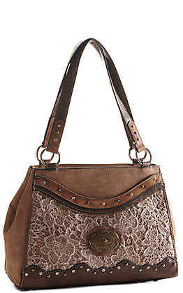 Justin Women's Light with Tan Lace Small Handbag