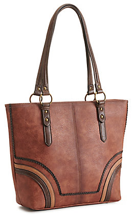 Justin Chestnut Braid Equestrian Concealed Carry Tote