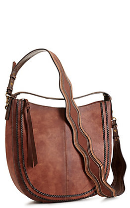 Justin Concealed Carry Equestrian with Chestnut Braid Hobo Bag