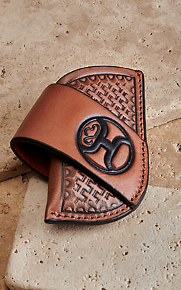 Hooey Brown Crosshatch with Black Logo Knife Sheath