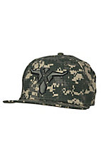 Wrangler Men's Green Digital Camo Skull Cap