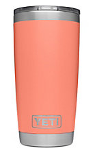 YETI 20oz Coral Rambler Tumbler with MagSlider Lid