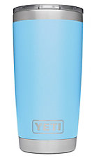 YETI 20oz Light Blue Rambler Tumbler with MagSlider Lid