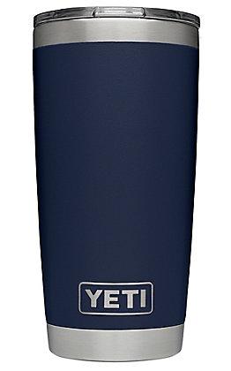 Yeti Navy Rambler 20 Oz Tumbler with MagSlider Lid