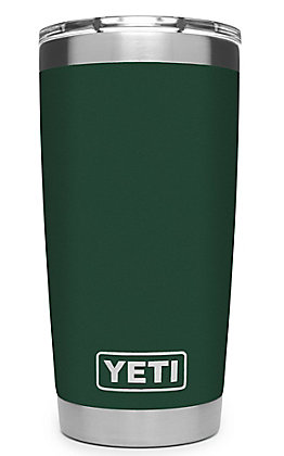 Yeti Northwoods Green Rambler 20 Oz Tumbler with MagSlider Lid