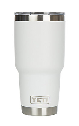 YETI 30 oz White Tumber with Magslider Lid