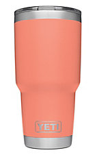 YETI 30 oz Coral Tumber with Magslider Lid