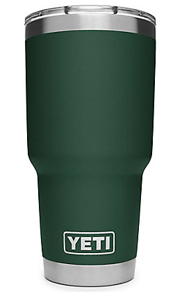 Yeti Northwoods Green Rambler 30 Oz Tumbler with MagSlider Lid