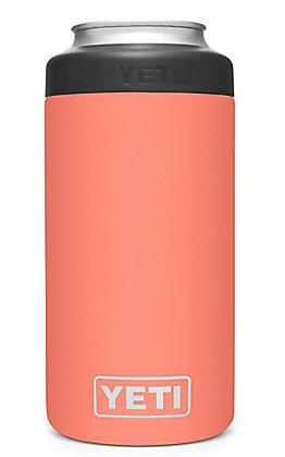 Yeti Coral Rambler Tall 16 Oz Colster Can Insulator