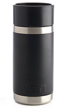 YETI Rambler Black With Hotshot Cap 12 Ounce Bottle