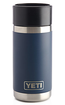 YETI Rambler With Hotshot Cap Navy 12 Ounce Bottle
