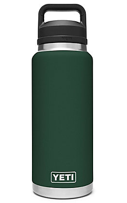 Yeti Northwoods Green Rambler 36 Oz. Bottle with Chug Cap
