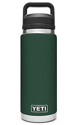 Yeti Northwoods Green Rambler 26 Oz. Bottle with Chug Cap