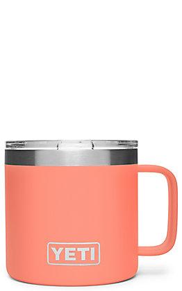 Yeti Coral Rambler 14 Oz Mug with Standard Lid