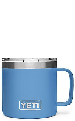 Yeti Pacific Blue Rambler 14 Oz Mug with Standard Lid