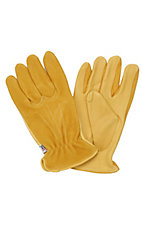 M&F Mens Tan Deerskin with Suede Gloves