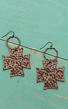 Jewelry Junkie Bronze Cross Dangle Earrings
