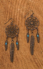 Jewelry Junkie Bronze Dream Catcher Dangle Earrings
