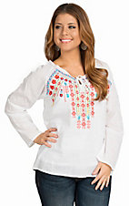 Panhandle Women's Loose Fit Tunic Embroidered Fashion Top