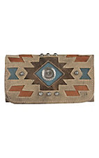 American West Zuni Passage Collection Sand Trifold Wallet