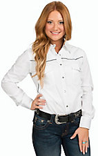 Cowgirl Hardware Women's White Persian Dot Poplin Western Shirt