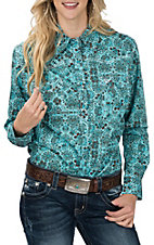 Cowgirl Hardware Turquoise New Peacock Paisley L/S Western Shirt