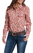 Cowgirl Hardware Women's Rust Peacock Long Sleeve Snap Western Shirt