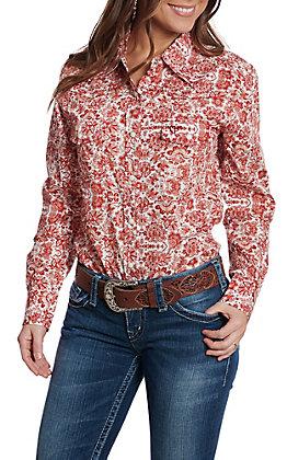 Cowgirl Hardware Women's Rust Peacock Long Sleeve Snap Western Shirt