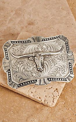 Montana Silversmiths Antiqued Trailblazer with Longhorn Buckle