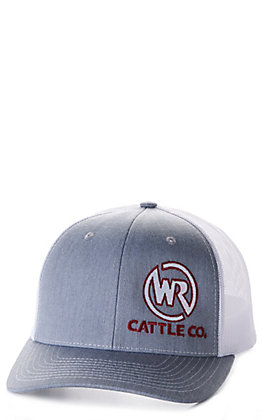 Whiskey Bent Hat Co. Bodacious Grey Whiskey Ranch Logo Cap