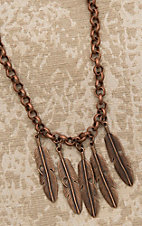 Jewelry Junkie Bronze with Feathers Necklace