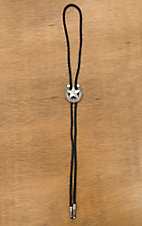 M&F Western Silver Horseshoe with Star Bolo Tie