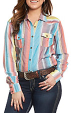 Panhandle Women's Serape Print Long Sleeve Western Shirt