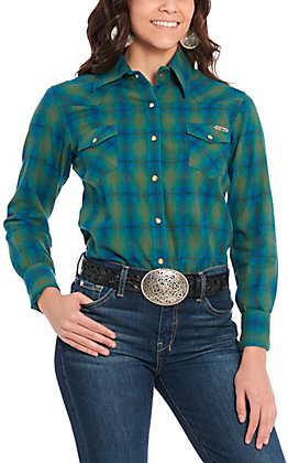 Powder River Women's Turquoise Plaid Flannel