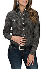 Panhandle Women's Black Geo Print L/S Western Snap Shirt