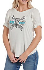 Cowgirl Hardware Women's White Free Spirit Slinky T-Shirt