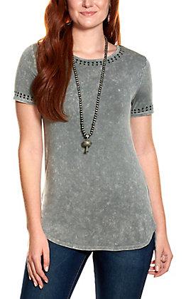 Cowgirl Hardware Graphite Nailhead Trim Short Sleeve T-Shirt