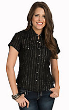 Cowgirl Hardware Women's Black Swiss Dot Western Shirt