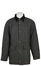 Schaefer Men's Grey Melton Wool Cattle Baron Drifter Jacket