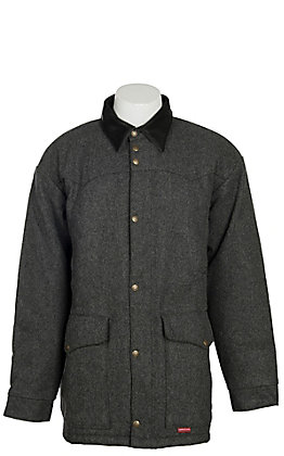 Schaefer Outfitter Grey Wool Cattle Baron Drifter Coat