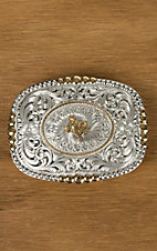 Montana Silversmiths Silver and Gold Texas Pioneer Portrait Buckle