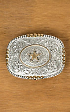 Montana Silversmiths Heirloom Gold Pioneer Portrait Buckle with Texas Star Concho