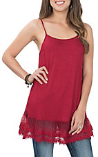 Grace & Emma Women's Red Slip Tunic Fashion Shirt